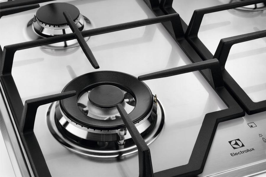 Газовая варочная поверхность из нержавеющей стали ELECTROLUX